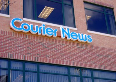 Courier LED front lit channel Somerville
