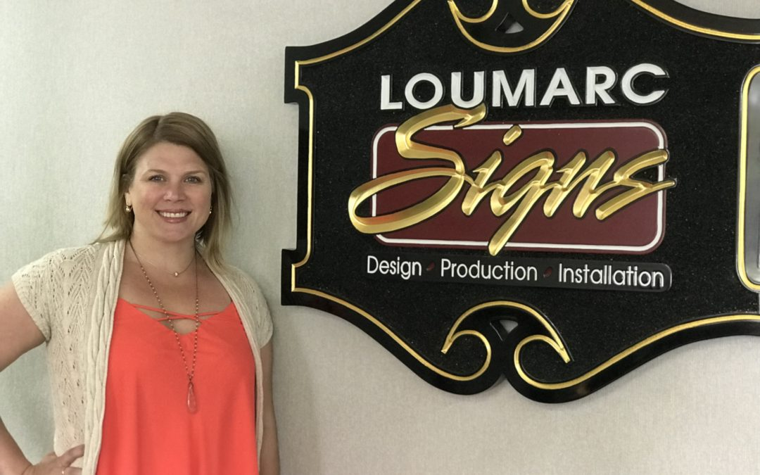 Teri Olsen, Graphic Designer, Celebrates 20 Years at Loumarc Signs